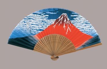 唐木中彫 北斎赤富士